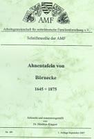Ahnentafeln von Börnecke 1645-1875