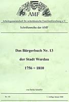 Das Bürgerbuch Nr. 13 der Stadt Werdau 1756-1810