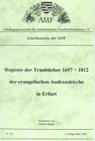 Register Taufbücher 1697-1812 der ev. Andreaskirche in Erfurt