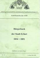 Bürgerbuch der Stadt Erfurt 1834-1851