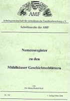 Namensregister Mühlhäuser Geschichtsblätter