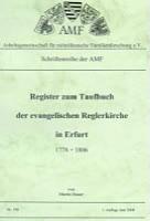 Register zum Taufbuch der ev. Reglerkirche in Erfurt 1778-1806