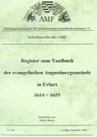 Register zum Taufbuch der ev. Augustinergemeinde in Erfurt