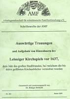 Auswärtige Trauungen und Aufgebote von Einwohnern des Leisninger Kirchspiels vor 1637