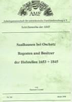 Saalhausen bei Oschatz, Regesten und Besitzer der Hofstellen 1653-1845
