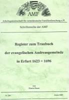 Register zum Traubuch der ev. Andreasgemeinde in Erfurt 1623-1696