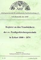Register zu den Traubüchern der ev. Predigerkirchengemeinde in Erfurt 1800-1874