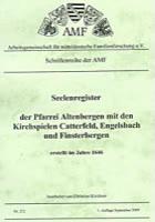 Seelenregister der Pfarrei Altenbergen mit den Kirchspielen Catterfeld, Engelsbach und Finsterbergen