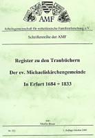 Register zu den Traubüchern der ev. Michaeliskirchengemeinde in Erfurt