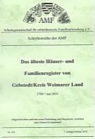 Das älteste Häuser- und Familienregister von Gebstedt/Kreis Weimarer Land