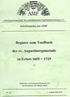 Register zum Taufbuch der ev. Augustinergemeinde in Erfurt 1655-1729