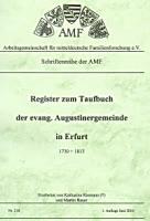 Register zum Taufbuch der ev. Augustinergemeinde in Erfurt 1730-1813