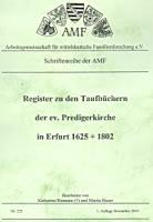 Register zu den Taufbüchern der ev. Predigerkirche in Erfurt 1625-1802