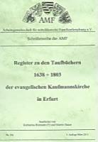 Register zu den Taufbüchern 1638-1803 der ev. Kaufmannskirche in Erfurt