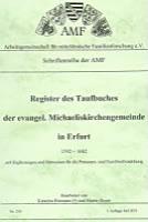 Register des Taufbuches der ev. Michaeliskirchengemeinde in Erfurt 1592-1682