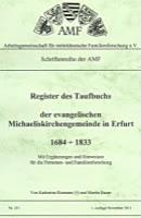 Register des Taufbuches der ev. Michaeliskirchengemeinde in Erfurt