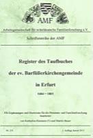 Register des Taufbuches der ev. Barfüßerkirchengemeinde in Erfurt 1684-1803