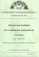 Register zum Taufbuch der ev. Andreaskirche zu Erfurt