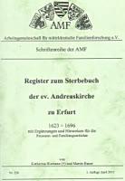 Register zum Sterbebuch der ev. Andreaskirche zu Erfurt