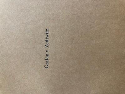 Grafen v. Zedtwitz