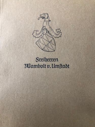 Freiherren Wambolt v. Umstadt