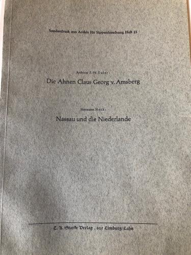 Die Ahnen Claus Georg von Amsberg