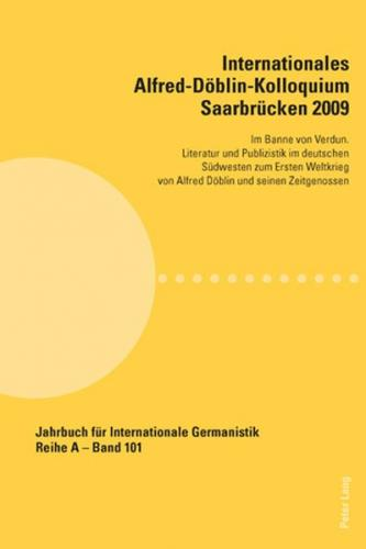 Internationales Alfred-Döblin-Kolloquium Saarbrücken 2009 (Ebook - pdf)