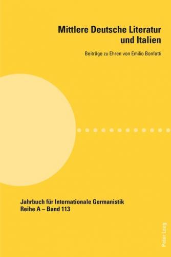 Mittlere Deutsche Literatur und Italien (Ebook - pdf)