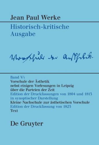 Jean Paul: Werke / Vorschule der Aesthetik (Ebook - EPUB)