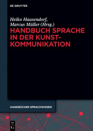 Handbuch Sprache in der Kunstkommunikation (Ebook - EPUB)
