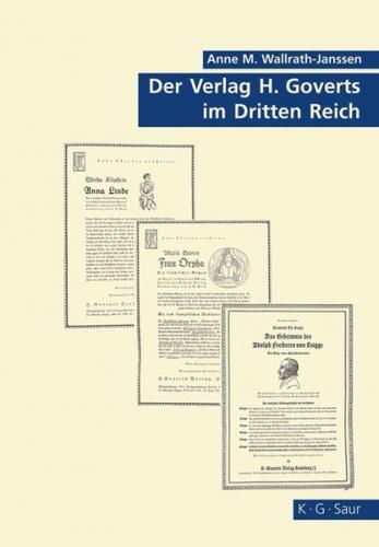 Der Verlag H. Goverts im Dritten Reich (Ebook - pdf)