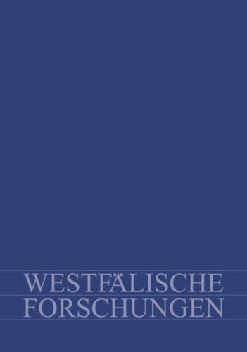 Westfälische Forschungen. Zeitschrift des Westfälischen Instituts...