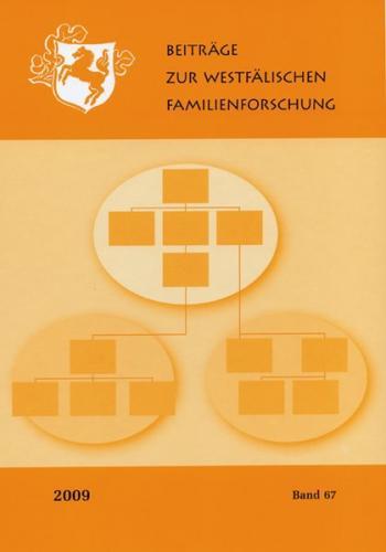 Beiträge zur Westfälischen Familienforschung