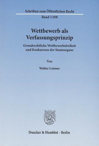Wettbewerb als Verfassungsprinzip. (Ebook - pdf)