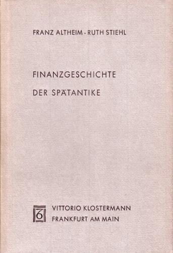 Finanzgeschichte der Spätantike