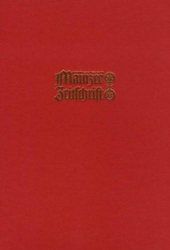 Mainzer Zeitschrift. Mittelrheinisches Jahrbuch für Archäologie, Kunst und Geschichte