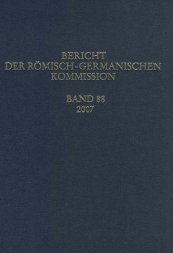 Berichte der Römisch-Germanischen Kommission / Bericht der Römisch-Germanischen Kommission