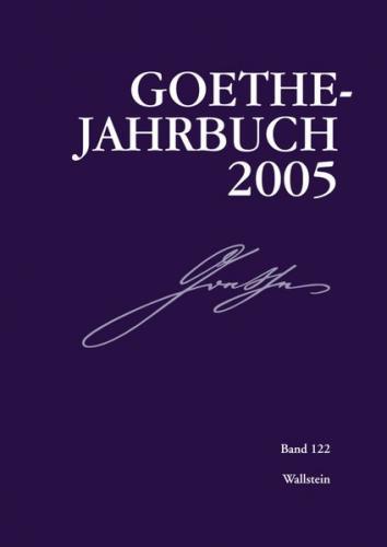 Goethe-Jahrbuch 122, 2005 (Ebook - pdf)