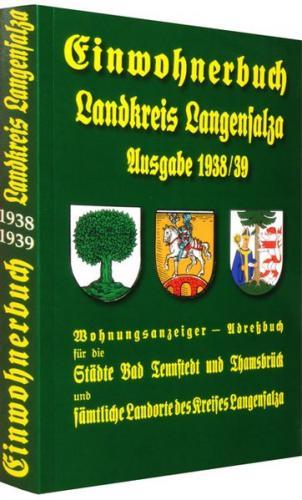 Einwohnerbuch - Landkreis Langensalza - Ausgabe 1938/39