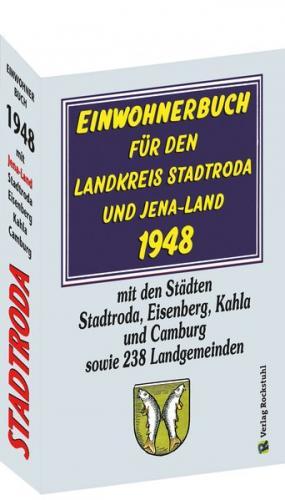 Einwohnerbuch für den Landkreis STADTRODA und JENA-LAND 1948 mit einer Karte