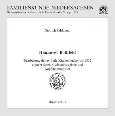 Hannover-Bothfeld Bearbeitung der ev.-luth. Kirchenbücher bis 1852 ergänzt durch Zivilstandsregister und Kopfsteuerregister (auf CD)