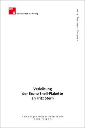 Verleihung der Bruno Snell-Plakette an Fritz Stern