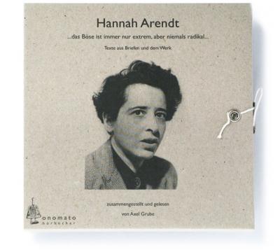 Hannah Arendt. Ein fragmentarisches Werkporträt (Audio-CD)