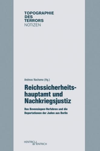Reichssicherheitshauptamt und Nachkriegsjustiz