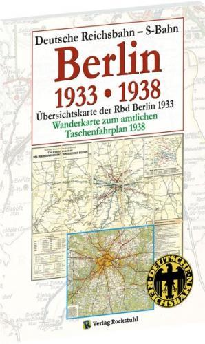 Übersichtskarten der Reichsbahndirektion Berlin April 1933 und Mai 1938