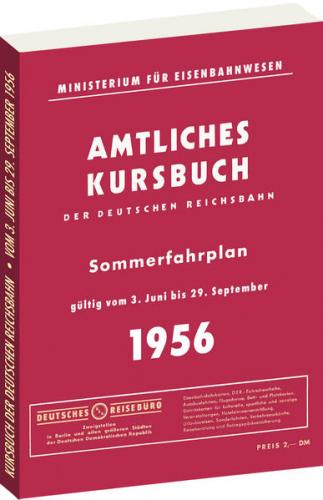 Kursbuch der Deutschen Reichsbahn - Sommerfahrplan 1956