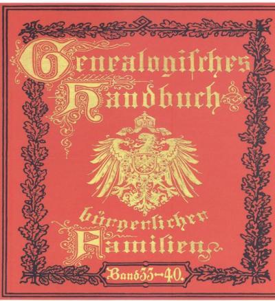 Deutsches Geschlechterbuch - CD-ROM. Genealogisches Handbuch bürgerlicher Familien / Genealogisches Handbuch bürgerlicher Familien Bände 33-40 (Audio-Mp3)