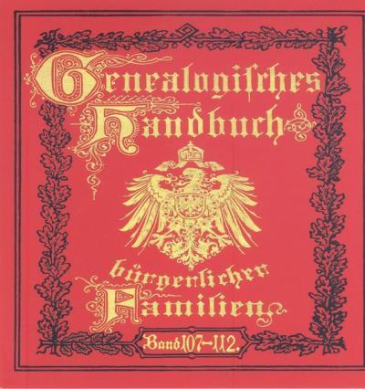 Deutsches Geschlechterbuch - CD-ROM. Genealogisches Handbuch bürgerlicher Familien (Audio-Mp3)