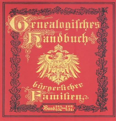 Deutsches Geschlechterbuch - CD-ROM. Genealogisches Handbuch bürgerlicher Familien / Genealogisches Handbuch bürgerlicher Familien Bände 132-137 (Audio-Mp3)