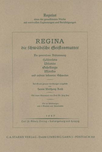 Regina die schwäbische Geistesmutter